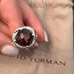 David Yurman Infinity Ring Garnet 11mm Size 5.75